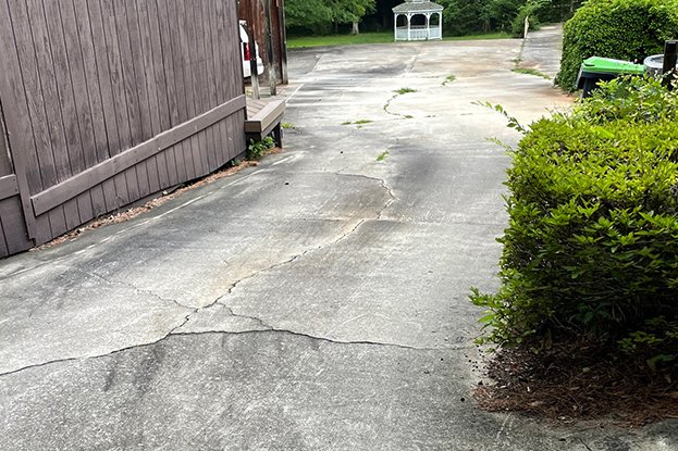 Driveway before image